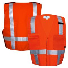 National Safety Apparel Vizable VNT99345 FR Enhanced Visibility HRC 2 Short Waist Breakaway Safety Vest
