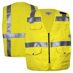 National Safety Apparel VIZABLE FR Class 2 HRC 2 HiVis Survey Safety Vest