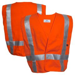 National Safety Apparel Vizable VNT99604 FR Enhanced Visibility HRC 2 Short Waist Contractor Safety Vest