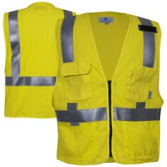 National Safety Apparel 99363 Class 2 HRC 1 FR Deluxe Road Vest