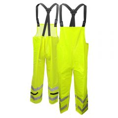 Neese 227BT Class E HiVis Dura Arc 1 FR HRC 1 PVC on Nomex Safety Rain Bib