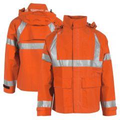 Neese 207AJ Class 3 PetroArc HiVis HRC 2 FR Neoprene Nomex Safety Rain Jacket