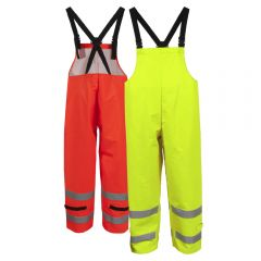 Neese 217BT Class E HiVis FlexArc HRC 2 PU Coated FR Cotton Safety Rain Bib