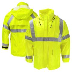 Neese 267AJ Class 3 HiVis Dura Arc 2 FR HRC 2 PVC on Modacrylic Safety Rain Jacket