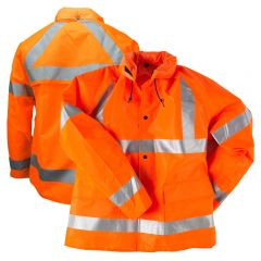 Neese 9002AJ Class 3 Self-Extinguishing HiVs PU Coated Safety Rain Jacket