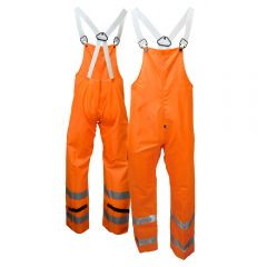 Neese 9002BTF Class E Self-Extinguishing HiVis PU Coated Safety Rain Bib