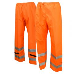 Neese 9002ET Class E Self-Extinguishing HiVis PU Coated Safety Rain Pant