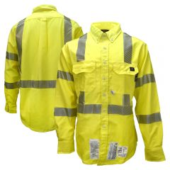 Neese VU7SH3 Class 3 HiVis FR HRC 2 Button Down Safety Shirt