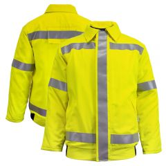 National Safety Apparel C34T8Q2DC3 Class 3 FR HiVis HRC 3 Safety Bomber