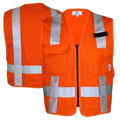 National Safety Apparel 99223 Arc-Rated FR Cotton Utility Safety Vest