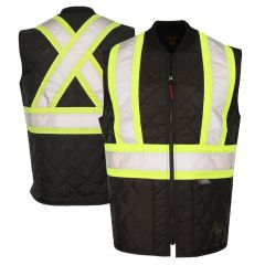 Tough Duck SV05 Class 1 HiVis Quilted Contrast Zippered Safety Vest