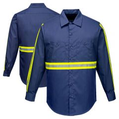 Portwest F125 Iona Xtra Enhanced Visibility Long Sleeve Button Up Shirt