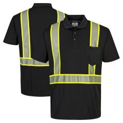 Portwest F140 Iona Plus Enhanced Visibility Segmented Contrast Polo Shirt