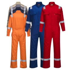 Portwest FR94 Iona BizFlame 88/12 Enhanced Visibility FR Coverall HRC-2