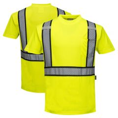 Portwest S395 Detroit Class 2 Hi Vis Short Sleeve Contrasting Safety T-Shirt