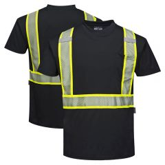 Portwest S396 Iona Xtra Enhanced Visibility Short Sleeve Contrasting T-Shirt