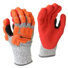 Radians RWG603R ANSI Cut Level 5 Nitrile Dipped Gloves with Dorsal Protection