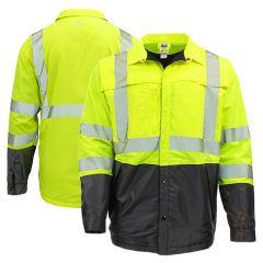 Radians SJ03 Class 3 Hi Vis Ripstop Quilted Wind Shirt