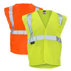 Radians SV2 Mesh Class 2 Hi Vis Economy Safety Vest w/ Hook & Loop Closure