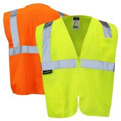 Radians SV2Z Class 2 Hi Vis Economy Solid Zippered Safety Vest