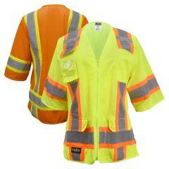 Radians SV63W Class 3 HiVis Women's Zippered Surveyor Safety Vest
