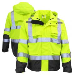 Radians RW32-3Z1Y Class 3 Heavy Duty Ripstop Waterproof Rain Jacket