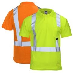 Radians ST12-2 ANSI Class 2 HiVis Moisture Wicking Short Sleeve Polo