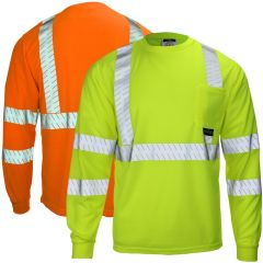 Radians ST24-3 Rad-Shade Class 3 UV Protection Long Sleeve T-Shirt