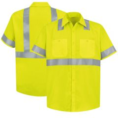 Red Kap Hi-Visibility Short Sleeve ANSI Class 2 Work Shirts