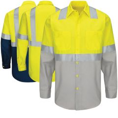 Red Kap SY14 Class 2 Long Sleeve Work Shirt