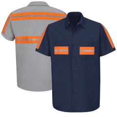Red Kap SP24OR Enhanced Visibility Work Shirt