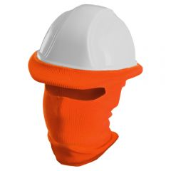 Ribbed Knit Polyester Full Face Hard Hat Tube Liner Orange