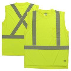 Tough Duck ST15 Class 2 Polyester HiVis Segmented Sleeveless Safety T-Shirt