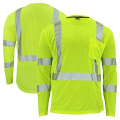 Radians ST31-3 Arctic Radwear Class 3 HiVis Segmented Long Sleeve Cooling Safety T-Shirt | Parent