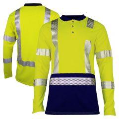 National Safety Apparel Vizable FR Class 3 CAT 2 Long Sleeve Henley Shirt