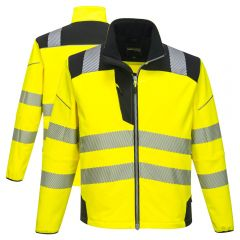 The Portwest T402 PW3 Vision Class 3 HiVis Softshell Jacket