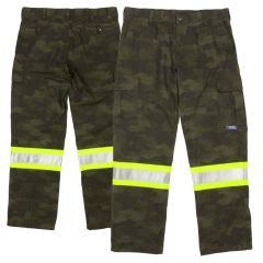 Tough Duck Class 1 Camo Flex Duck Safety Cargo Utility Pant