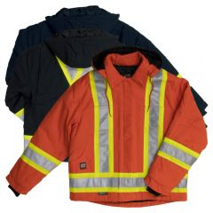 Tough Duck S457 Class 1 Premium 10oz Cotton Duck Contrast Safety Jacket