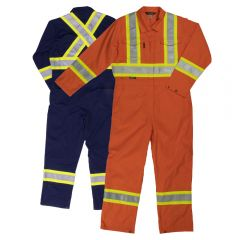 Tough Duck S792 Class 1 Poly/Cotton Unlined Contrast Safety Coverall