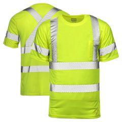 Tough Duck ST12 Class 3 HiVis Segmented Short Sleeve T-Shirt