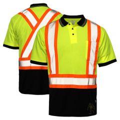 Tough Duck ST17 Class 2 Polyester Birdseye Contrast Short Sleeve Safety Polo