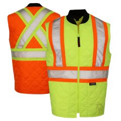 Tough Duck SV05 Class 2 HiVis Quilted Contrast Zippered Safety Vest