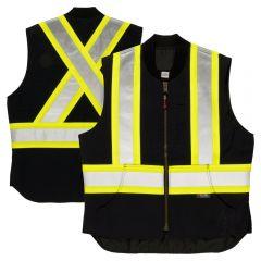 Tough Duck SV06 Class 1 Cotton Duck Contrast Quilt Lined Safety Vest