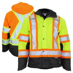Work King S245 Class 3 HiVis 300D Ripstop Fleece Lined Jacket