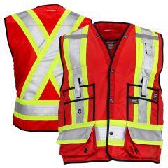 Work King S313 Red Class 1 Surveyor's Safety Vest