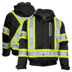 Work King SJ20 Class 1 Enhanced Visibility 300D Ripstop Thinsulate Lined Safety Bomber