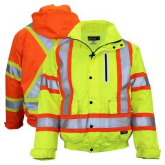 Work King SJ20 Class 3 HiVis 300D Ripstop Thinsulate Lined Safety Bomber