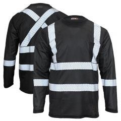 Work King ST08 Enhanced Visibility Segmented Tape Micro Mesh Long Sleeve T-Shirt