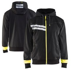 Blaklader 4958 Enhanced Visibility Full Zip Hooded Sweatshirt