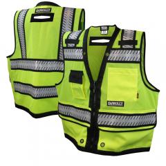DeWalt DSV521 ANSI Class 2 Heavy-Duty Hi Vis Surveyor's Safety Vest